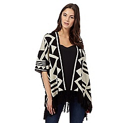 Red Herring - Natural Aztec blanket cardigan