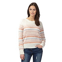Red Herring - Ivory navajo textured jumper