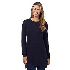 Red Herring - Navy mixed rib tunic