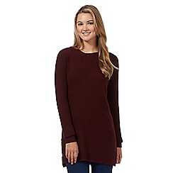 Red Herring - Maroon mixed rib tunic