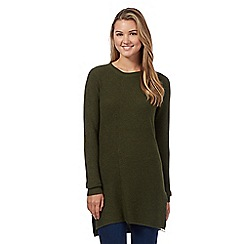 Red Herring - Khaki mixed rib tunic