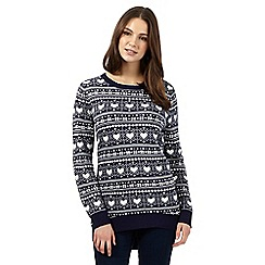 Red Herring - Navy Fair Isle tunic