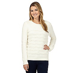 Red Herring - White ruffle detail jumper