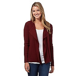 Red Herring - Maroon ribbed cardigan