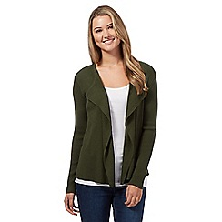 Red Herring - Khaki ribbed cardigan