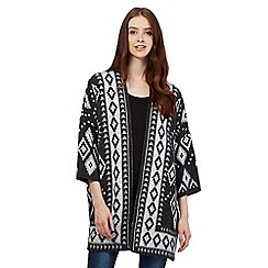 Red Herring - Dark grey aztec kimono cardigan