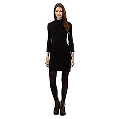 Red Herring - Black ribbed turtle neck dress