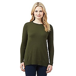 Red Herring - Khaki ribbed jumper