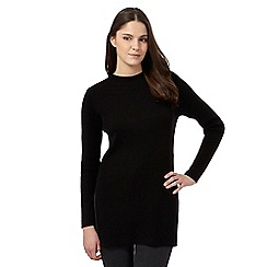 Red Herring - Black turtleneck ripped jumper