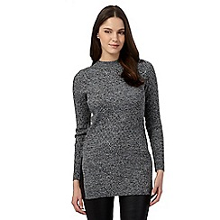Red Herring - Grey turtle neck ribbed jumper