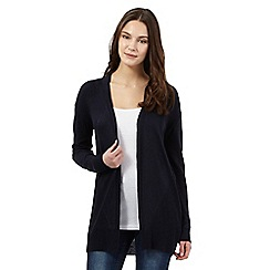 Red Herring - Navy pointelle cardigan