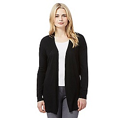 Red Herring - Black pointelle cardigan