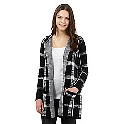 Red Herring - Black checked hooded cardigan
