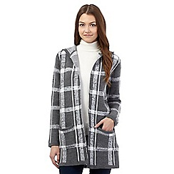 Red Herring - Grey checked hooded cardigan