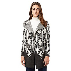 Red Herring - Dark grey Navajo cardigan