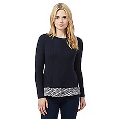 Red Herring - Navy floral 2-in-1 jumper