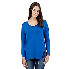 Red Herring - Blue V neck jumper