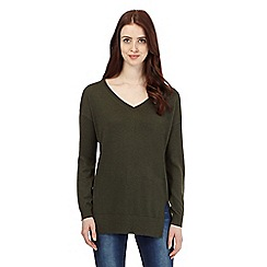 Red Herring - Khaki V neck jumper