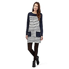 Red Herring - Navy stripped pocket dress