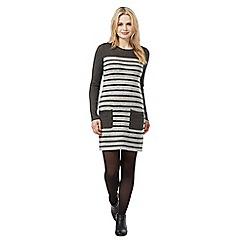 Red Herring - Grey striped knit dress