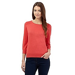 Red Herring - Dark peach jumper