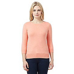 Red Herring - Dark peach zip shoulder jumper