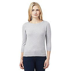 Red Herring - Grey zip shoulder jumper