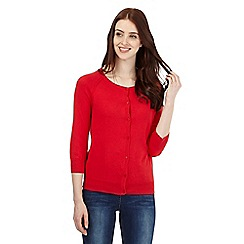 Red Herring - Red cotton cardigan