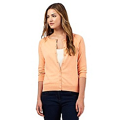 Red Herring - Peach cotton cardigan