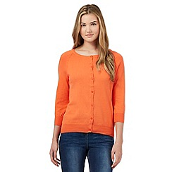 Red Herring - Orange cotton cardigan