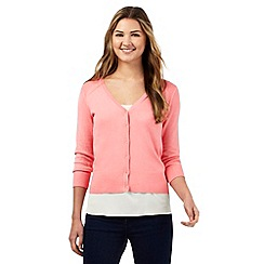 Red Herring - Pink V neck cardigan