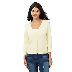 Red Herring - Pale yellow V neck cardigan
