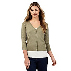 Red Herring - Khaki V neck cardigan
