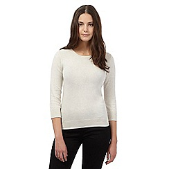 Red Herring - Beige ribbed shoulder jumper