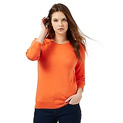 Red Herring - Orange button shoulder detail jumper