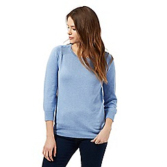 Red Herring - Blue button shoulder detail jumper
