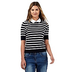 Red Herring - Navy striped two-in-one jumper