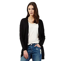Red Herring - Black draped cardigan