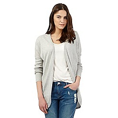 Red Herring - Light grey draped cardigan