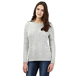 Red Herring - Grey cable knit jumper
