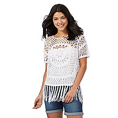 Red Herring - Ivory crochet top
