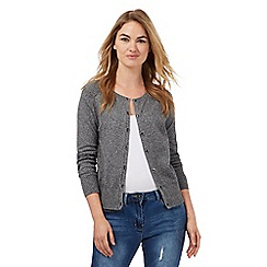 Red Herring - Grey textured cardigan