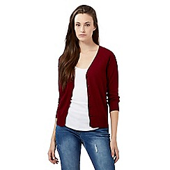 Red Herring - Dark red V neck cardigan