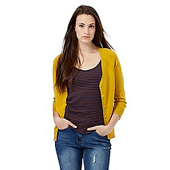 Red Herring - Dark yellow V neck cardigan