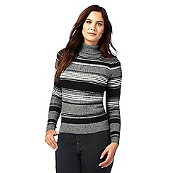 Red Herring - Grey striped roll neck jumper