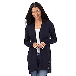 Red Herring - Navy drape cardigan
