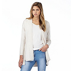 Red Herring - Beige zip detail draped cardigan
