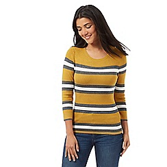 Red Herring - Mustard fine gauge striped jumper