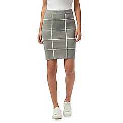 Red Herring - Grey check print skirt