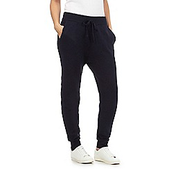 Red Herring - Navy knitted jogging bottoms